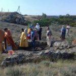 Керчь Храм Святителя Луки Богослужения - 2018-08-04 Литургия на раскопках древнего храма